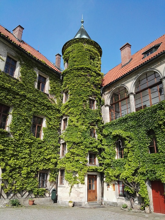 Tower, Architecture, Czech, Czech Republic, Courtyard