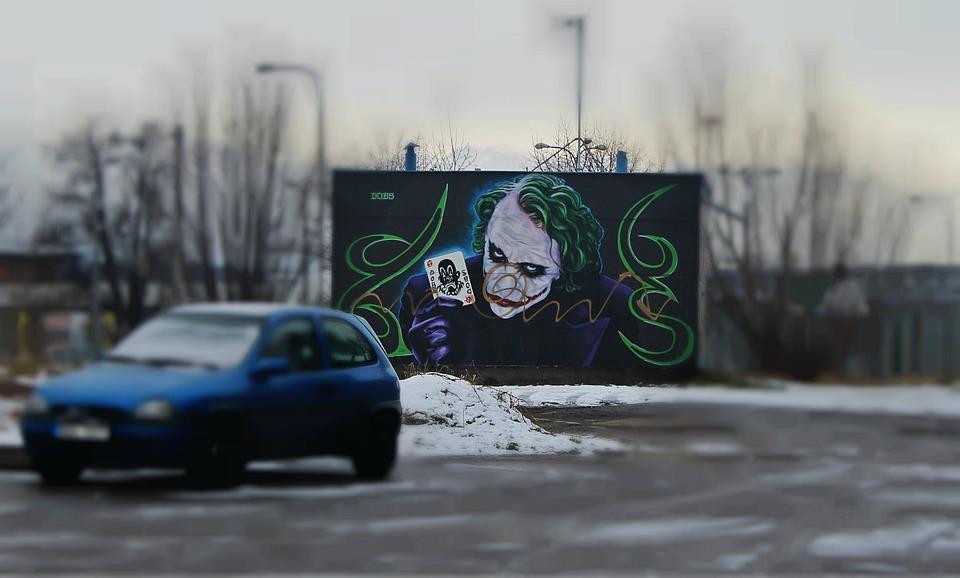 Graffiti, Czech Budejovice, Art, Winter