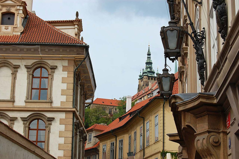 Window, Lamp, Roofs, Prague, House, Home, Czech