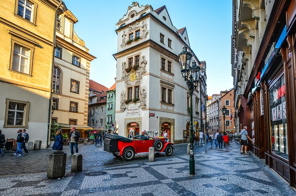 Prague, Czech, Republic, Square, Old, Town, Hotel, Car