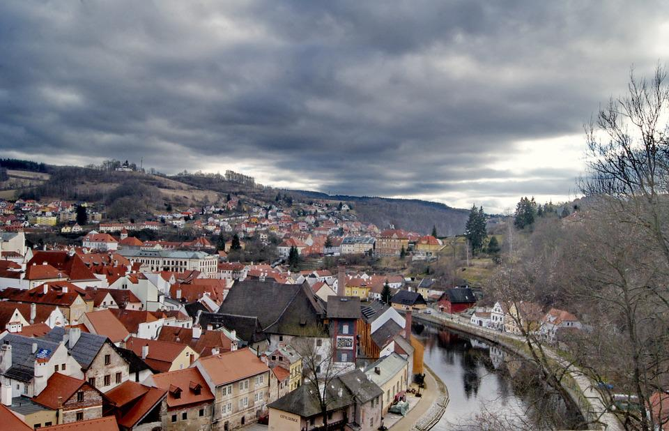 Czech Republic, Country, Clouds, Sky, City
