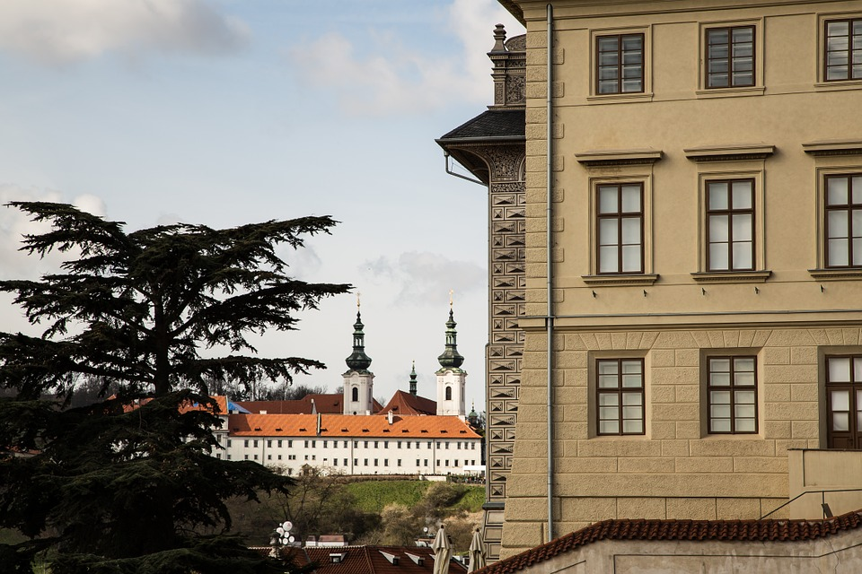 Golden City, Prague, Facade, Czech Republic