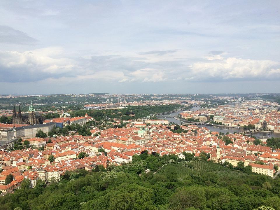 Czech Republic, Prague, Roof, Landscape, Panorama