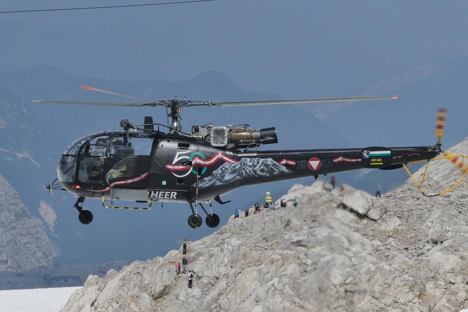 Military Helicopter, Austria, Dachstein-schladming