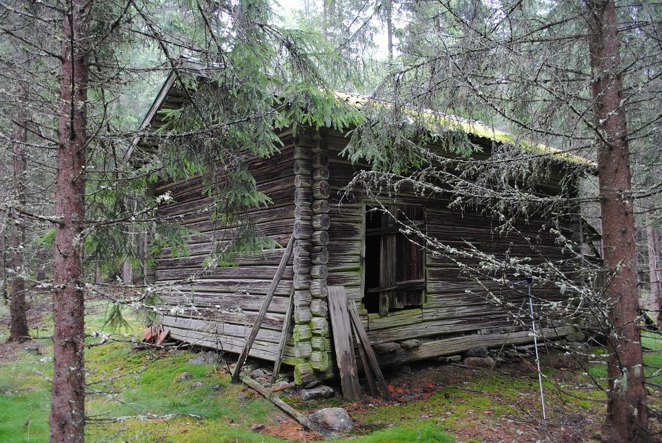 Barn, Floberget, Dala, Floda, Sweden, Woods, Remote