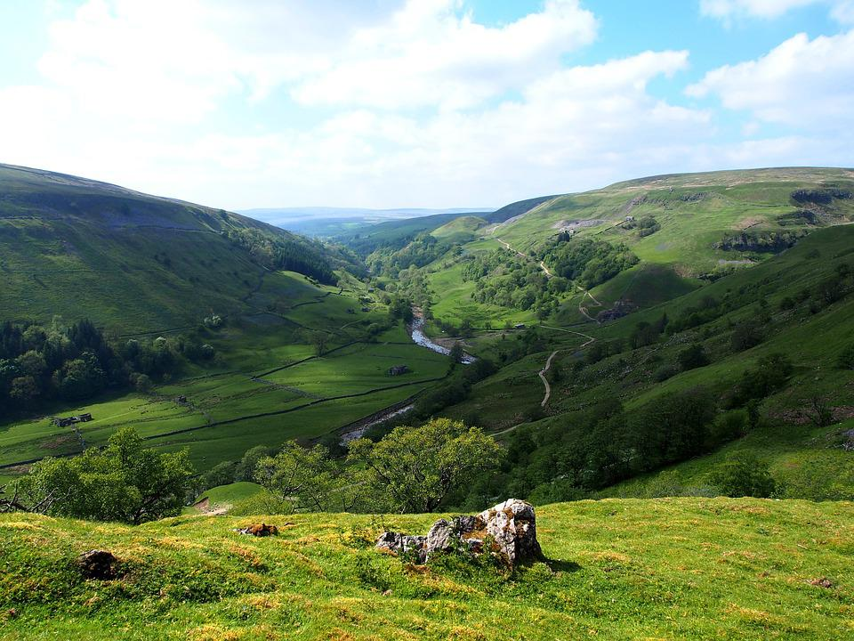 River Valley, Dales, Yorkshire