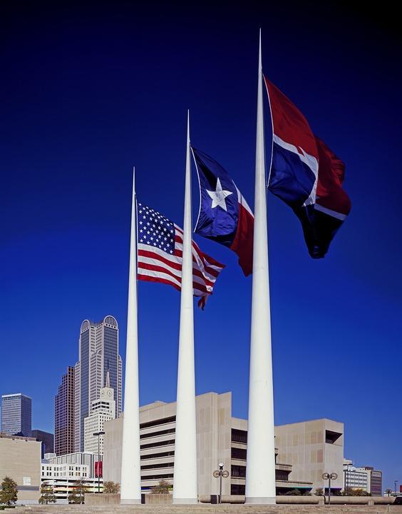 City Hall, Plaza, Dallas, Texas, Buildings, Skyline