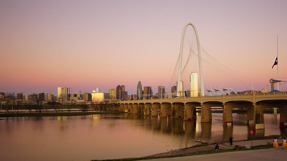 City, Architecture, Water, River, Sky, Dallas