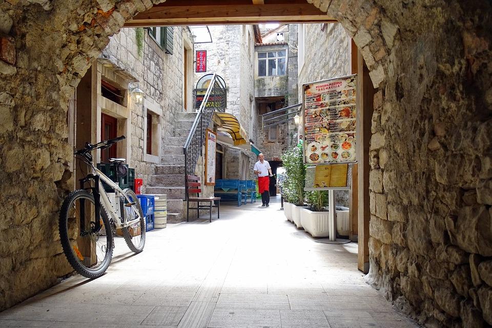 Trogir, Old Town, Croatia, Dalmatia, Streetscape, Goal