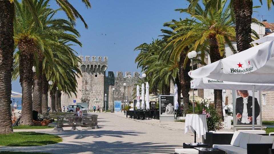 Dalmatia, Trogir Promenade, Fortress