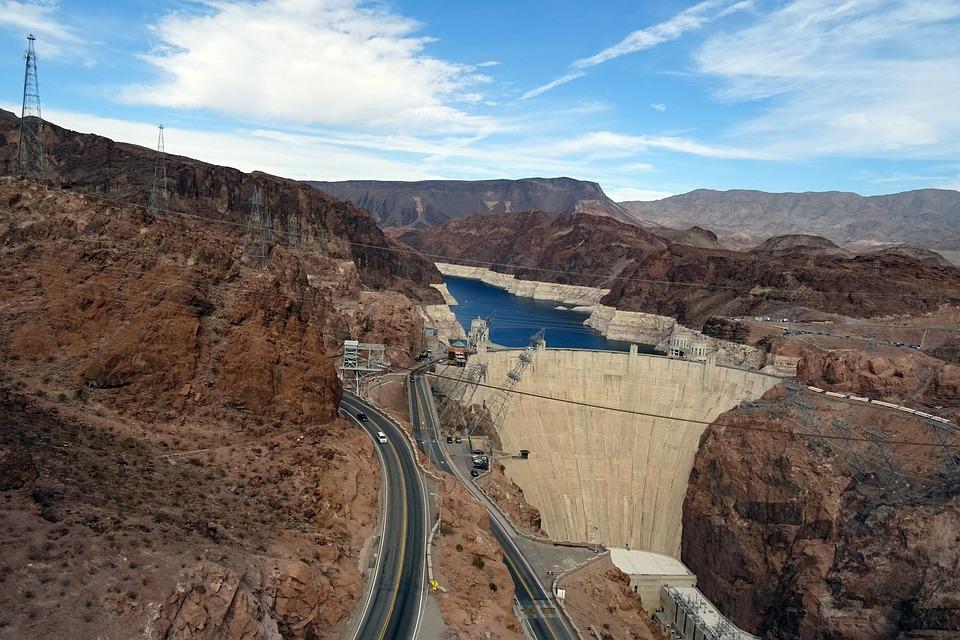 Hoover Dam, Dam, Colorado, River, Nevada, Power