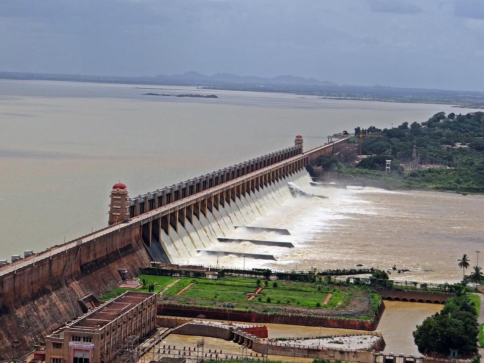 Dam, Tungabhadra, River, Hospet, Karnataka, India