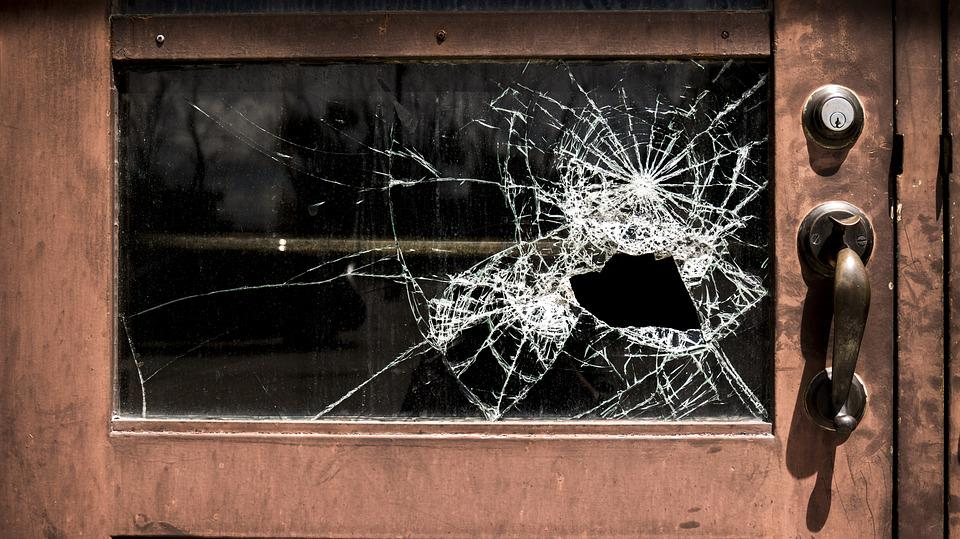 Broken, Glass, School, Damaged, Window, Crime