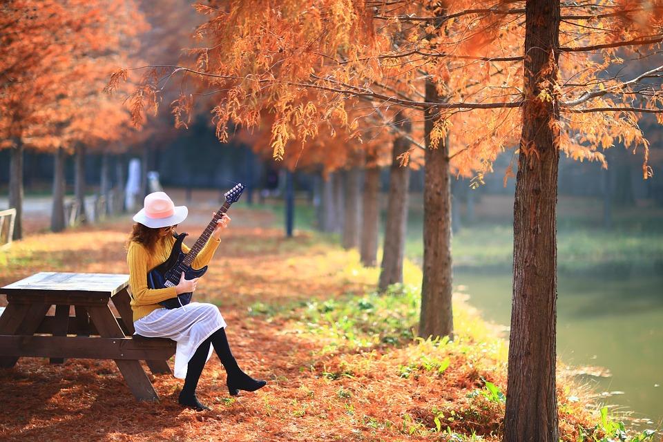Autumn, Paints, Woman, Republic Of Korea, Damyang
