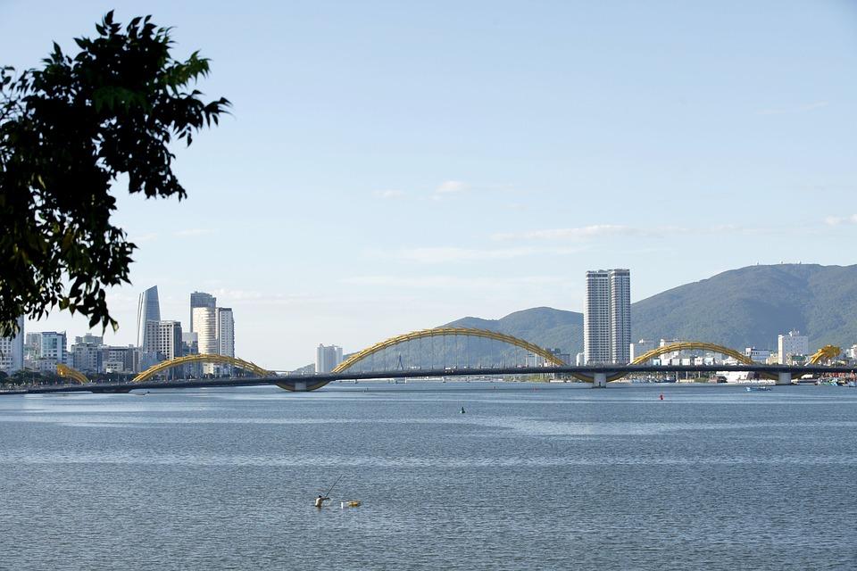 Danang, Dragon Bridge, Scenery, South River