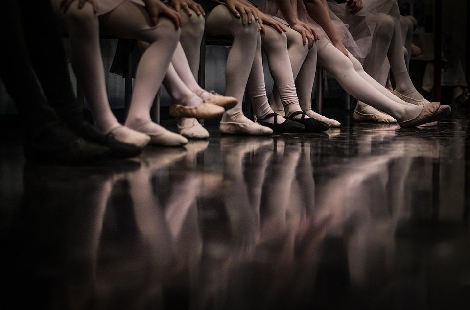 Ballet, Girls, Feet, Floor, Reflection, Dance