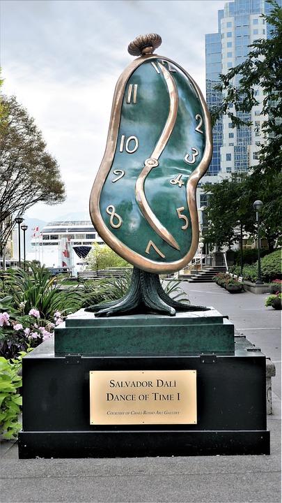 Dali, Sculpture, Dance Of Time, Vancouver