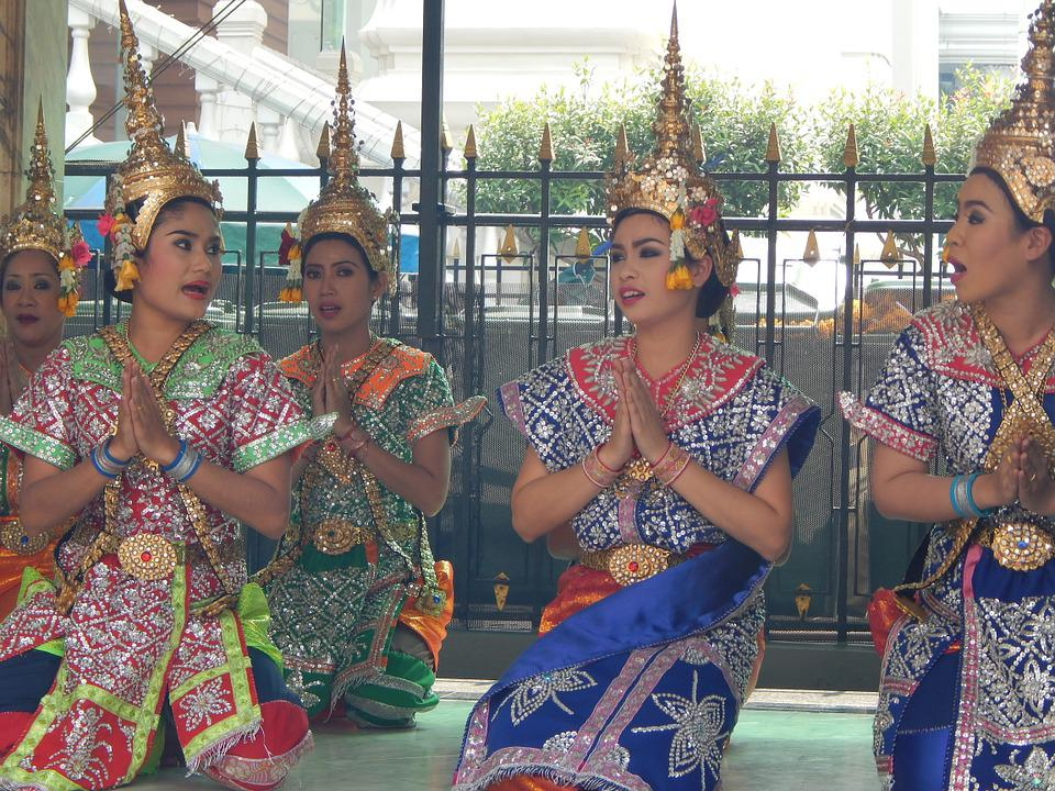 Dancers, Traditional, Thai, Bangkok, Thailand, Asia