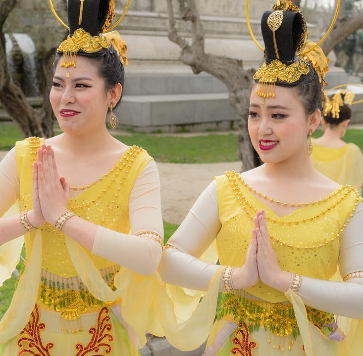 Chinese, China, Shanghai, Beijing, Chinatown, Dancers