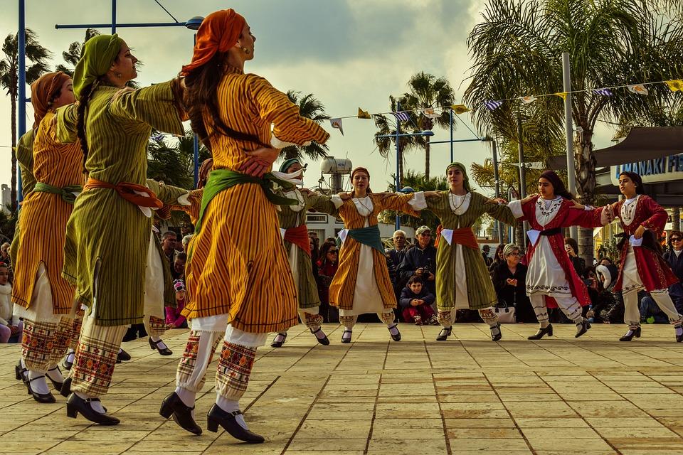 Dancers, Girls, Motion, Traditional, Folkloric, Dance