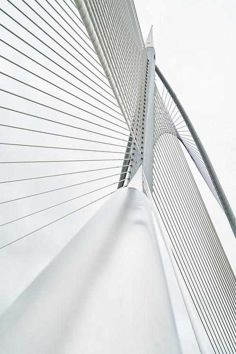 Bridge, Contemporary, Steel, Daniel, White