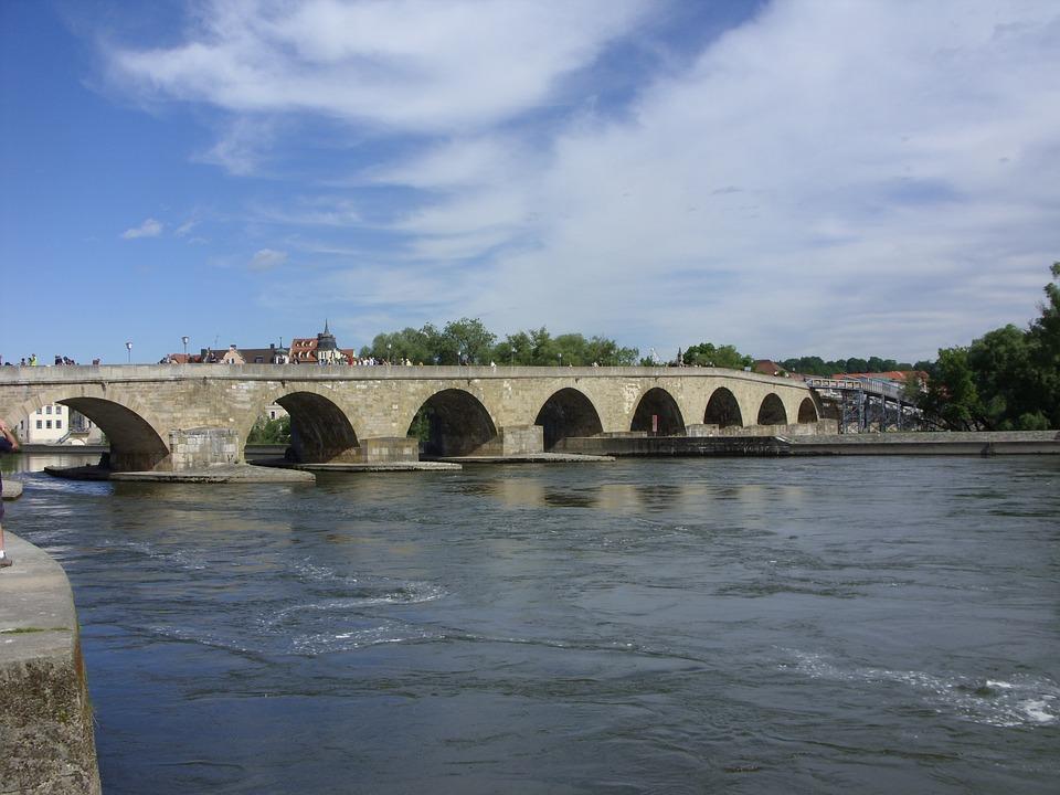 Bavaria, Danube, Bridge, Historical, City, Village, Old
