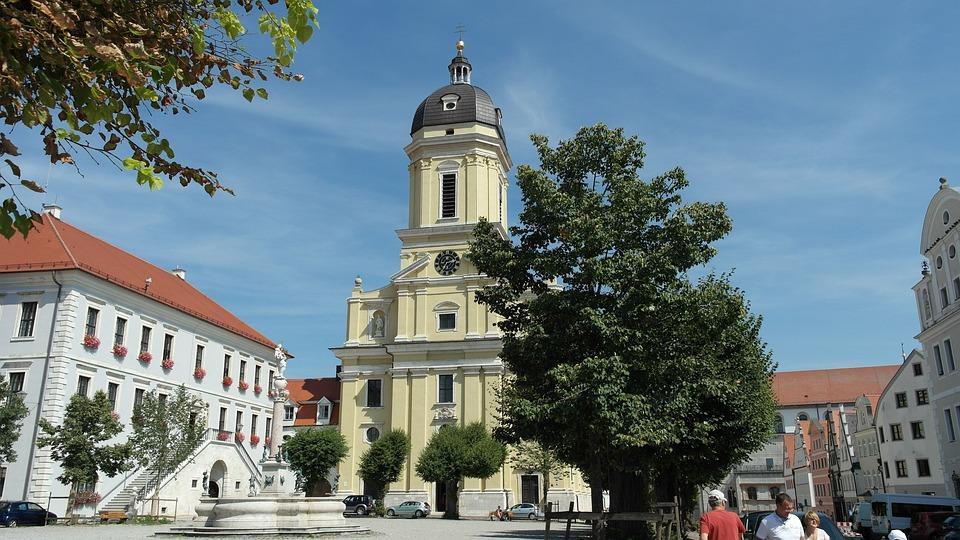 Neuburg On The Danube, Bavaria, City, Danube, River