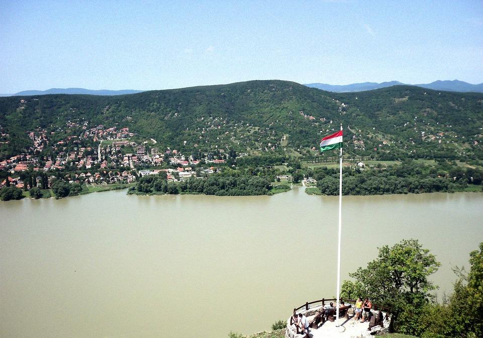 Danube, Landscape, River, Flag, Lookout Tower