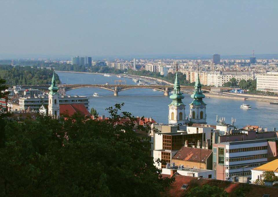 Scape, Margaret Bridge, Old, Panorama, Danube, River