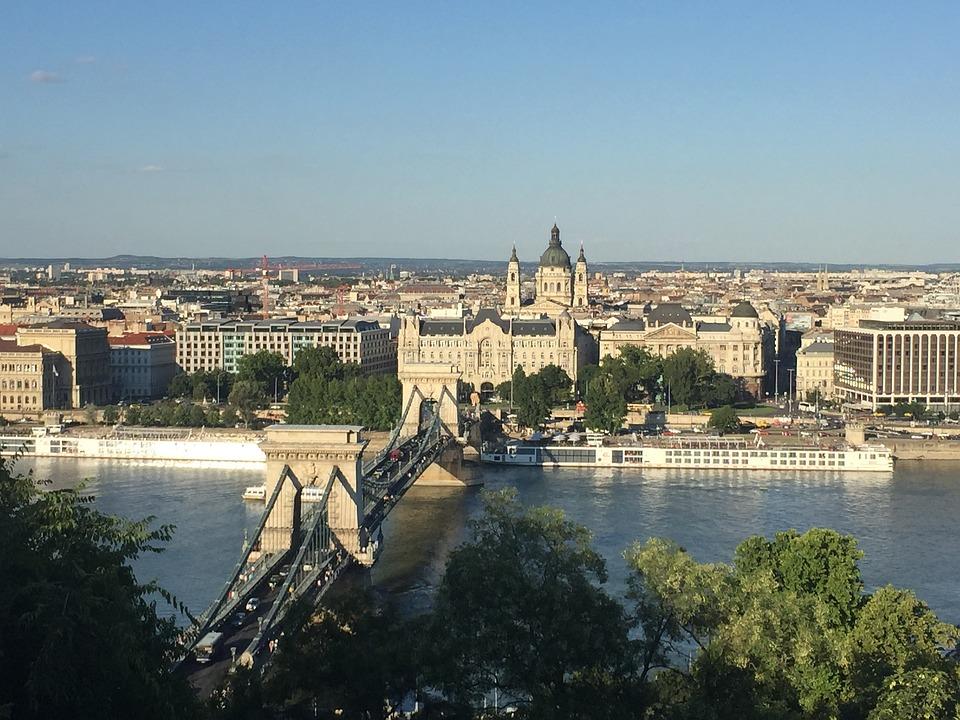 Budapest, Vista, Danube, Bridge, Landscape