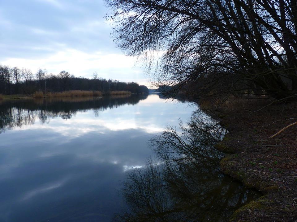 Abendstimmung, Foot, Danube, Water