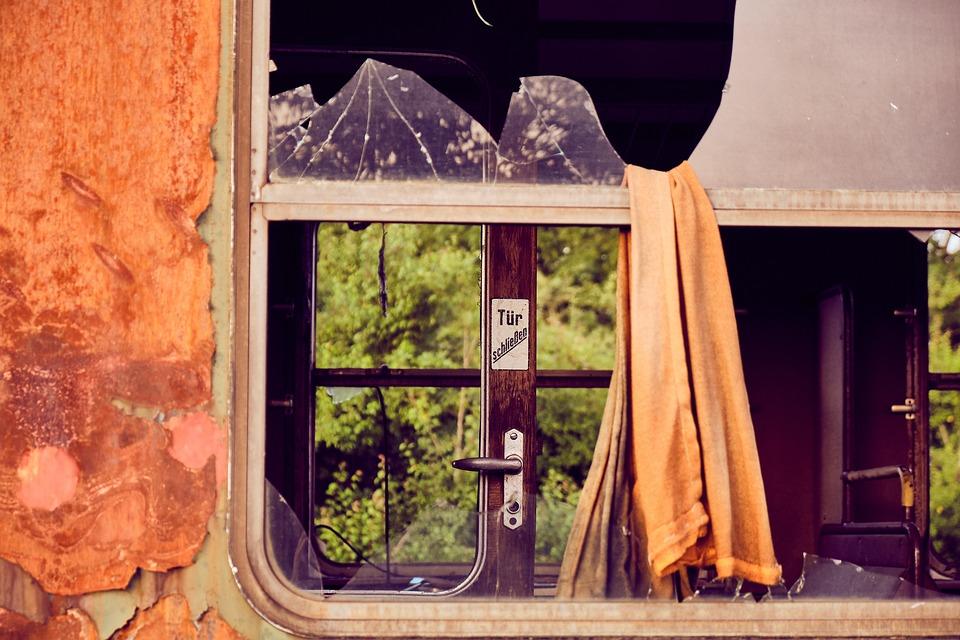 Train, Dare, Old, Rust, Broken, Demolished, Decay