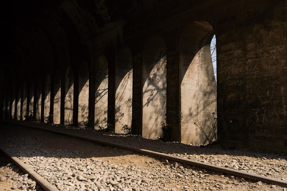 Tunnel, Railway, Contrast, Dark, Arch, Abandoned