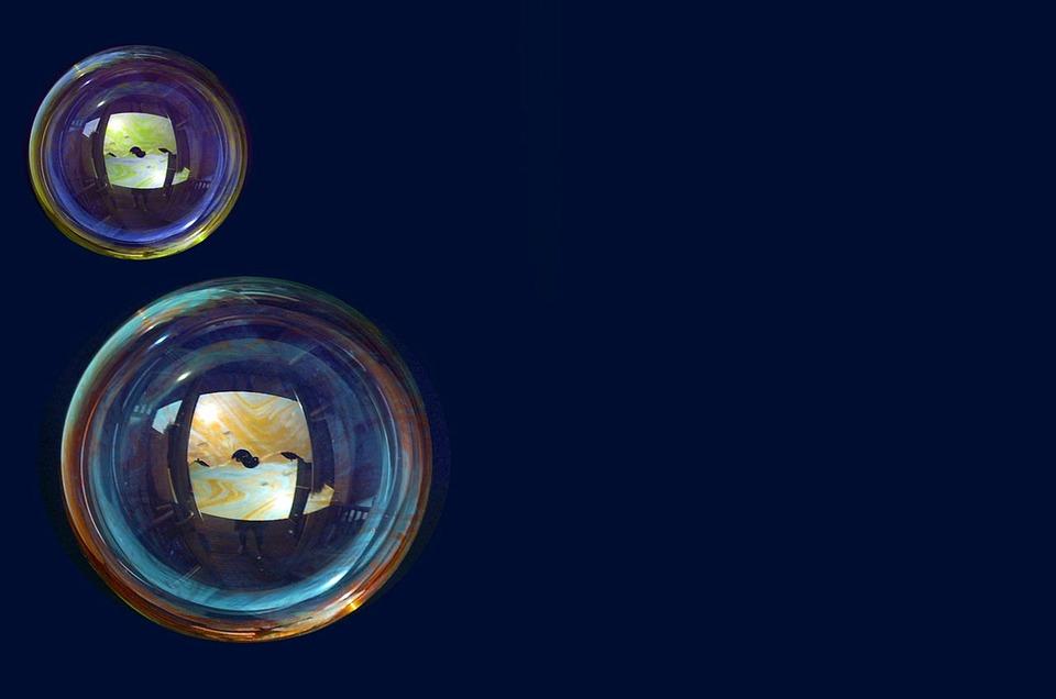 Bubble, Soap, Background, Dark, Rainbow, Sphere
