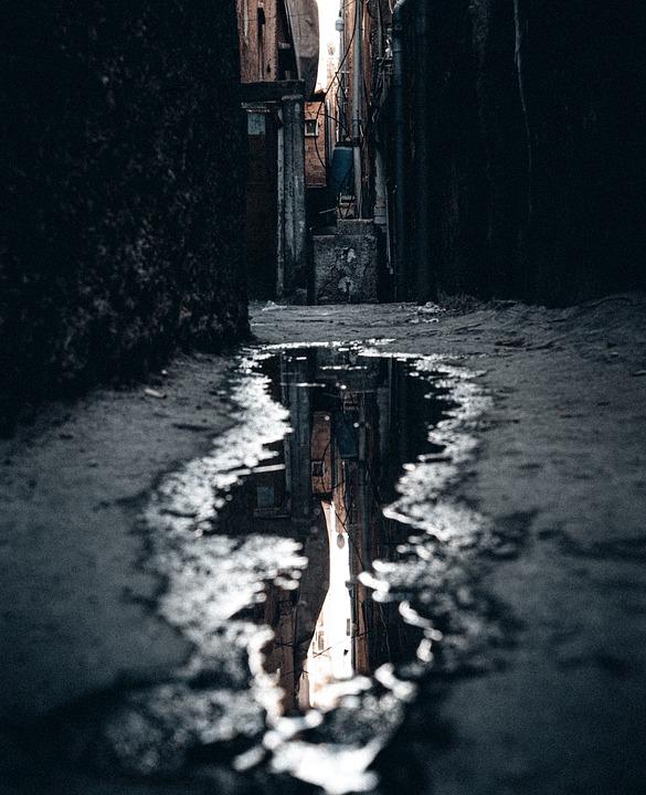 Urban, Water, Reflection, New York, Ally, Dark, Candid