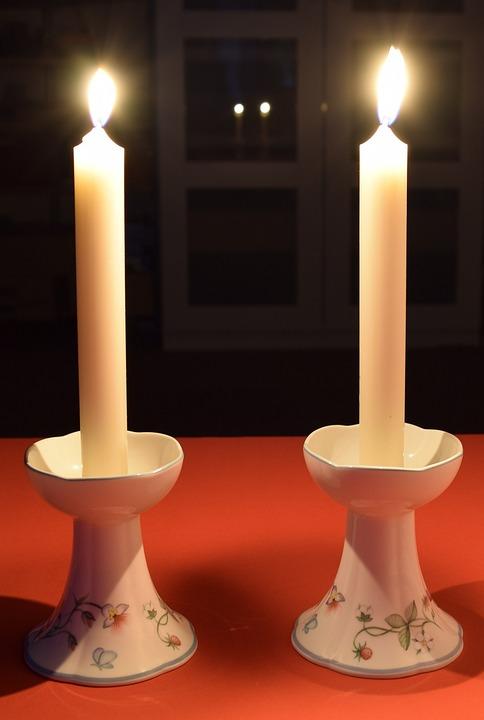 Candle, Candlelight, Mirroring, Dark, Atmospheric