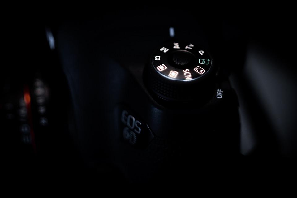 Camera, The Background, Black, Dark, Canon