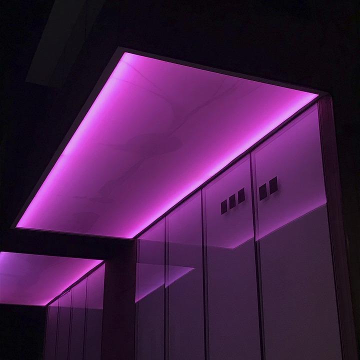 Architecture, Ceiling, Color, Dark, Digital, Effect