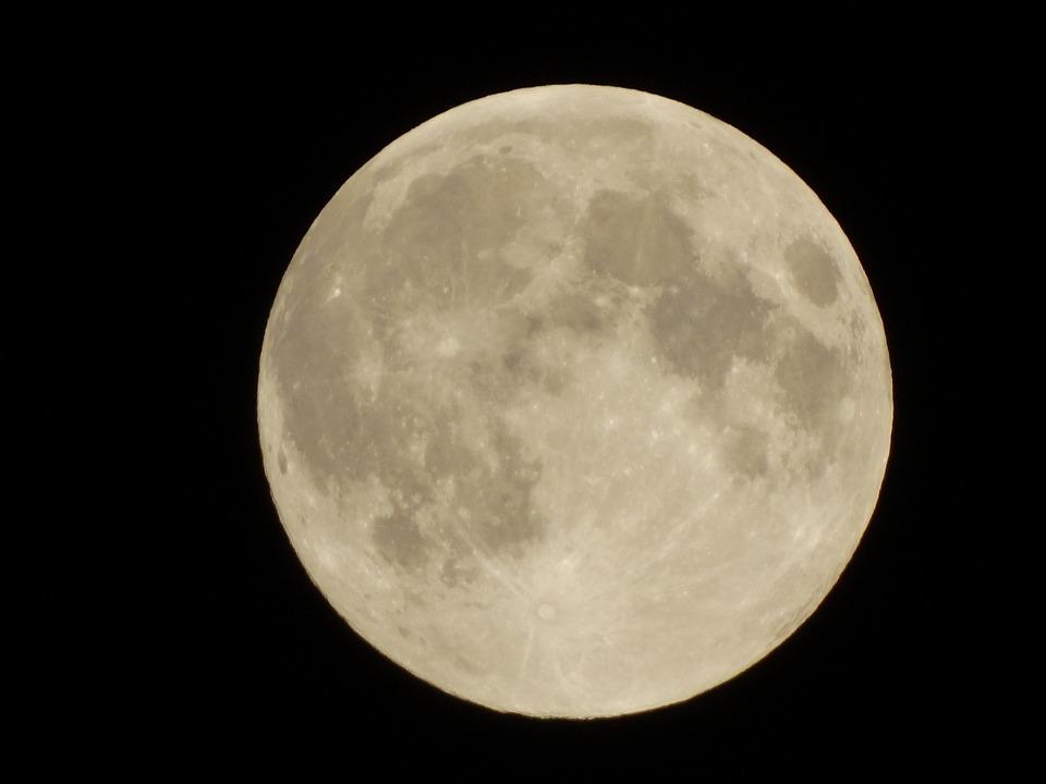 Full Moon, Celestial Body, Night, Moon, Dark, Moonlight