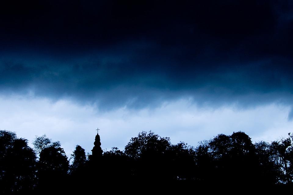 Rain, Storm, Church, Cloud, Dark