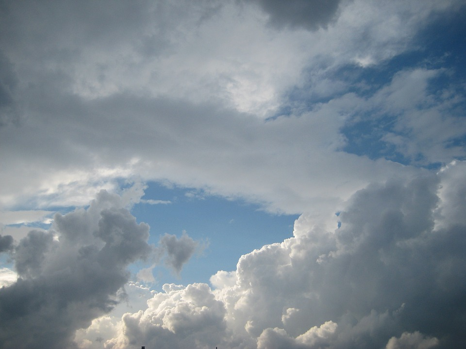 Clouds, Sky, Dark Clouds, White, Enormous, Blue