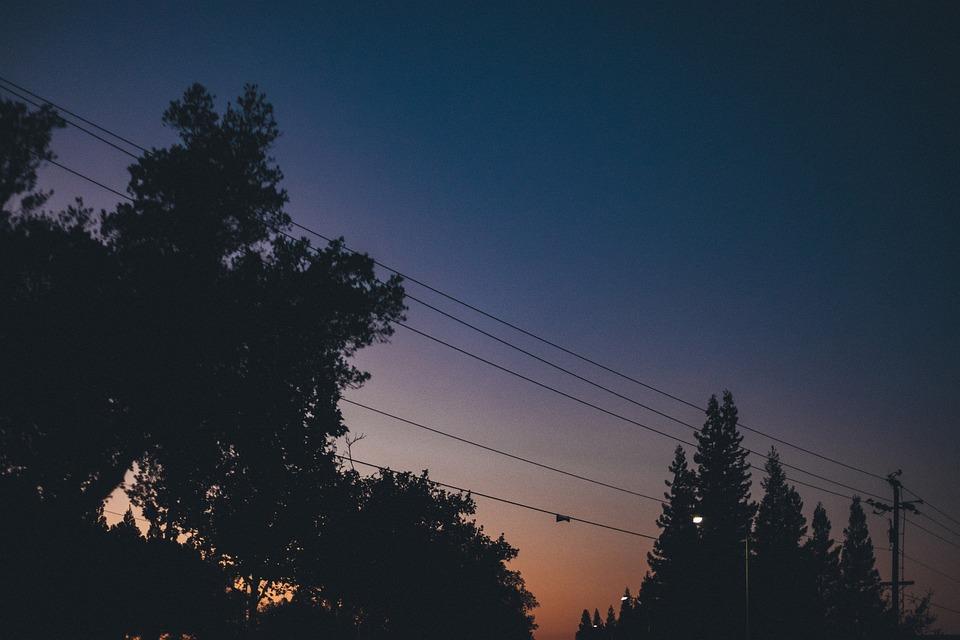 Sunset, Dusk, Sky, Night, Dark, Evening, Trees