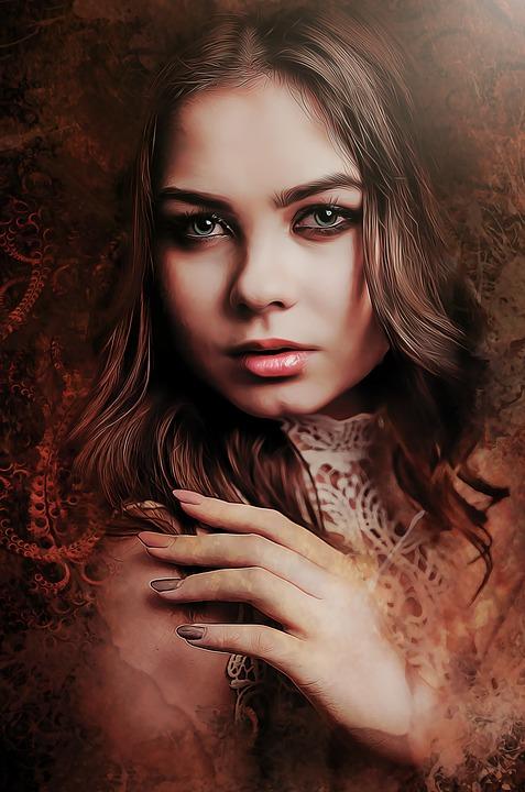 Gothic Dark Fantasy Portrait Woman Female Young