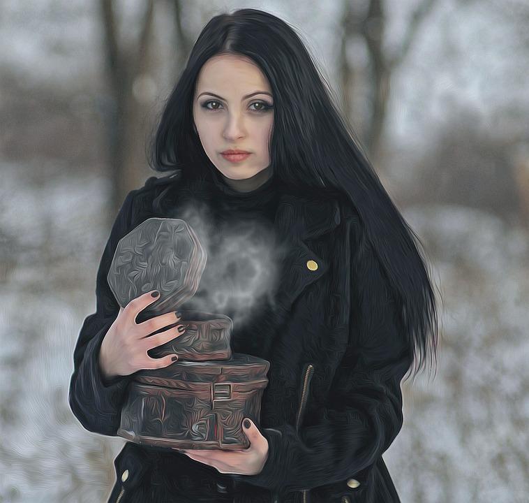 Gothic, Female, Dark, Fantasy, Fantasy Girl
