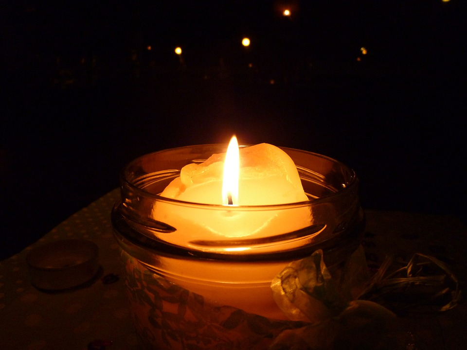 Candle, Light, Dark, Flame