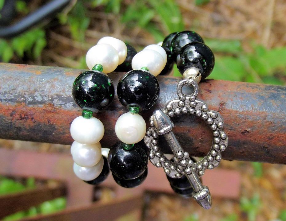 Akoya Pearls, Dark Green, Dragon Veins, Beads, Jewelry