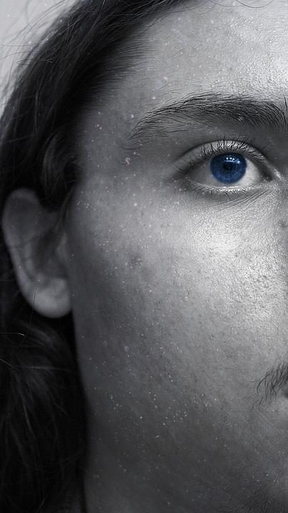 Free Photo Dark Hair Man Face Blue Male Dreamy Eye Max Pixel