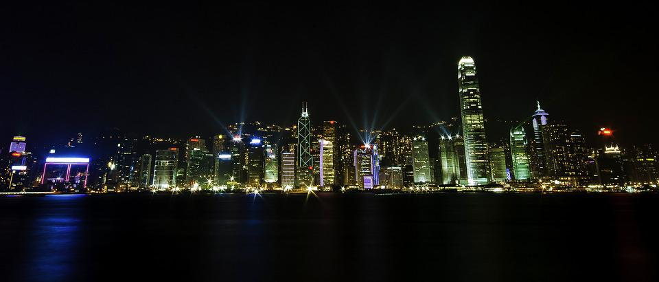 City, Lights, Night, Water, Skyline, Dark, Harbor, Fog