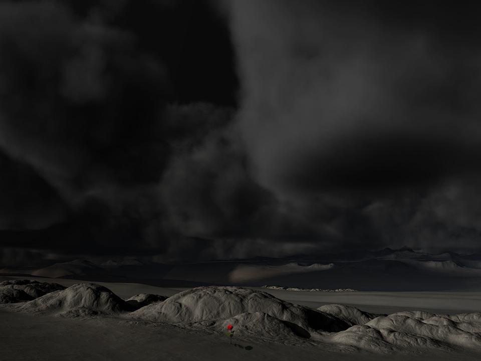 Landscape, Sky, Dark, Clouds, Storm, Forward, Threat