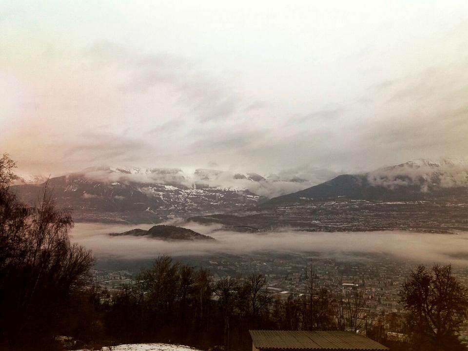 Swiss, Landscapes, Rain, Mountain, Clouds, Dark, Light
